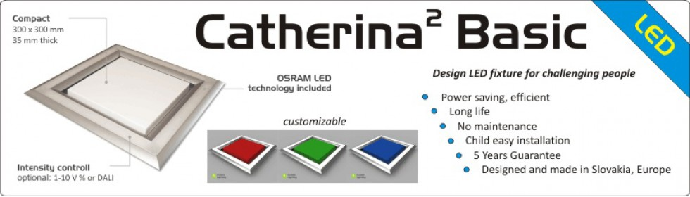 Catherina Square Basic, Deign LED fixture
