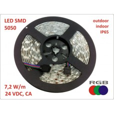 High Quality RGB LED strip, 24 VDC, 36W, IP65, 5m